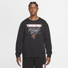 Мужская флисовая толстовка с графикой Jordan Flight Nike