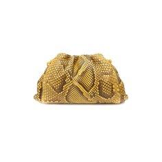 Клатч Pouch mini из кожи питона Bottega Veneta