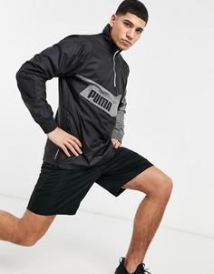 Черная куртка с короткой молнией PUMA Training-Черный цвет