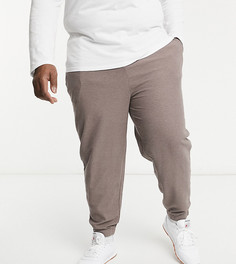 Бежево-коричневые oversized-джоггеры с контрастным поясом кремового цвета от комплекта ASOS DESIGN Plus-Коричневый цвет