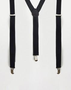 Черные подтяжки ASOS DESIGN Wedding-Черный цвет