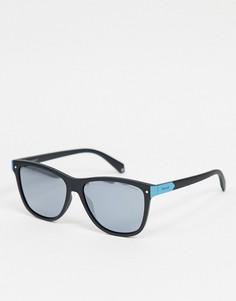Черные солнцезащитные очки в квадратной оправе Polariod-Черный Polaroid