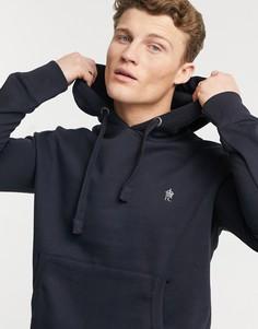 Худи темно-синего цвета с логотипом French Connection Essentials-Темно-синий