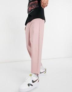 Розовые суженные книзу чиносы в стиле oversized ASOS DESIGN-Розовый цвет