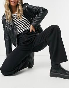 Черные свободные джинсы с завышенной талией Levis-Черный цвет