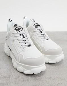 Белые кроссовки из экокожи со вставками с логотипом Buffalo Cloud Chai-Белый