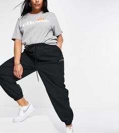 Черные спортивные штаны с тесьмой ellesse plus-Черный цвет