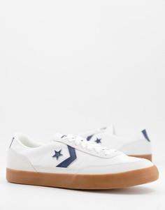 Белые кроссовки со вставками цвета обсидиана Converse Net Star Classic-Белый