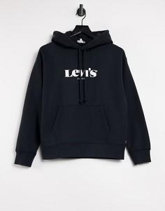 Худи черного цвета с логотипом Levis-Черный цвет