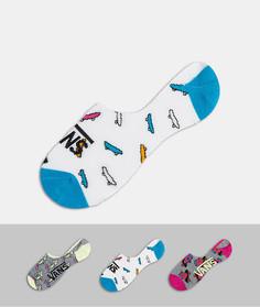 Набор из трех пар разноцветных носков до щиколотки Vans sk8-Многоцветный