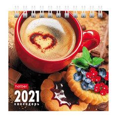 """Календарь-домик настольный Hatber """"Coffee Time"""" на 2021 год"""