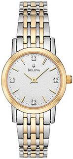 Японские наручные женские часы Bulova 98P115. Коллекция Diamond