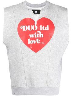 DUOltd футболка без рукавов с принтом
