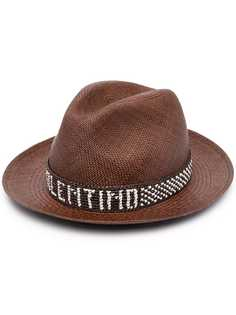 Valentino соломенная шляпа с логотипом