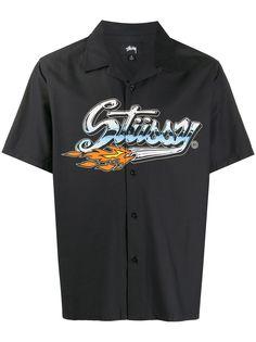 Stussy рубашка с короткими рукавами и логотипом