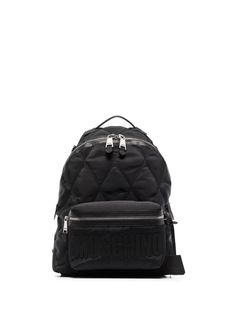 Moschino стеганый рюкзак с логотипом
