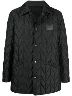 Salvatore Ferragamo стеганая куртка с нашивкой-логотипом