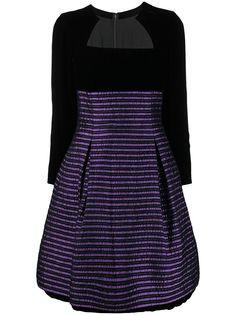 Christian Dior расклешенное платье pre-owned в полоску