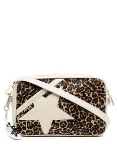 Golden Goose сумка через плечо Star с леопардовым принтом