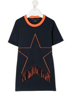 Stella McCartney Kids футболка с бахромой