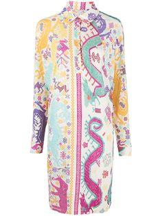 Etro платье-рубашка с вышивкой пейсли