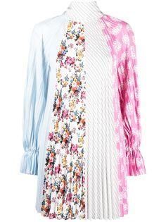 MSGM плиссированное платье с принтом