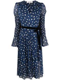 DVF Diane von Furstenberg платье с поясом и принтом
