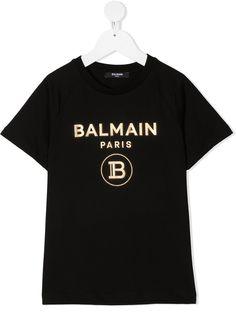 Balmain Kids футболка с короткими рукавами и логотипом