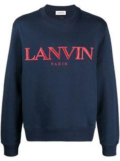 LANVIN толстовка с вышитым логотипом
