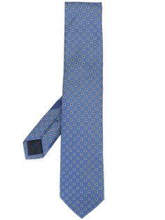 Salvatore Ferragamo жаккардовый галстук с узором Gancini
