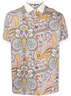 Etro рубашка поло с принтом пейсли