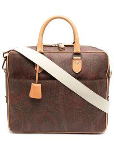Etro портфель с узором пейсли