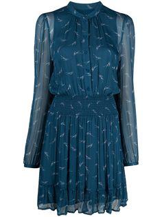 Michael Michael Kors платье со сборками и логотипом