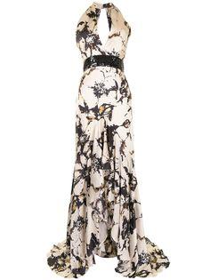 Silvia Tcherassi платье Lizzie с оборками и цветочным принтом
