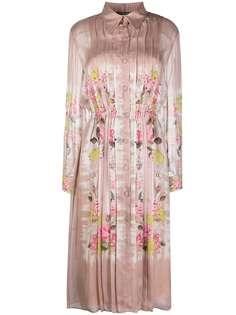 Alberta Ferretti плиссированное платье с цветочным принтом