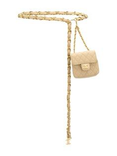 Chanel Pre-Owned стеганая поясная сумка 1990-х годов
