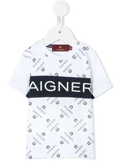 Aigner Kids футболка с логотипом