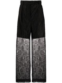 MSGM полупрозрачные брюки прямого кроя