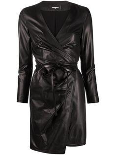 Dsquared2 платье с драпировкой и запахом