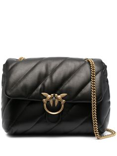 Pinko стеганая сумка на плечо с логотипом