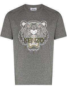 Kenzo футболка с принтом Tiger