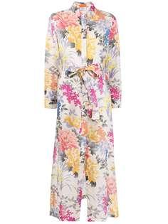 Etro платье-рубашка с цветочным принтом