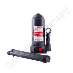 Гидравлический бутылочный домкрат skyway 6т h 195-380 мм с клапаном в коробке+сумка s01804017