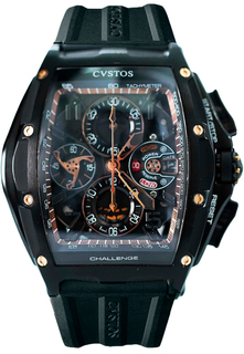 Швейцарские мужские часы в коллекции Challenge Jet-Liner Мужские часы CVSTOS Challenge-III-Chrono-Steel-Black