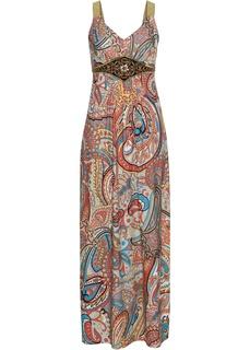 Платье с принтом и аппликациями Bonprix