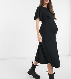Черное платье с завязкой на спине New Look Maternity Half Moon-Черный цвет