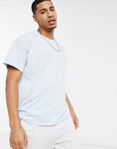 Голубая футболка с принтом «Somewhere» Topman-Голубой