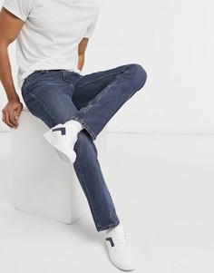 Темно-выбеленные розоватые джинсы узкого кроя Levis Skateboarding 511-Голубой