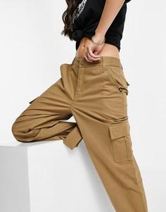 Коричневые брюки каргоVans-Коричневый цвет
