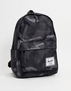Классический рюкзак черного цвета с камуфляжным принтом Herschel Supply Co classic x-large-Черный цвет